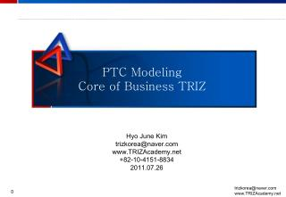 PTC Modeling Core of Business TRIZ