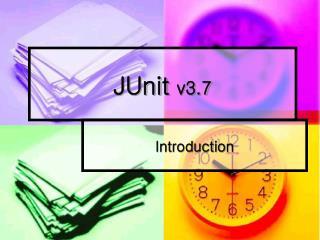 JUnit  v3.7