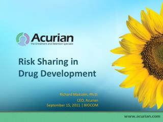 Risk Sharing in Drug Development