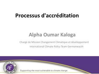 Processus d'accréditation