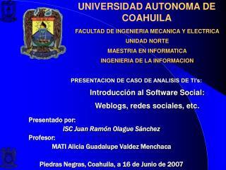 UNIVERSIDAD AUTONOMA DE COAHUILA
