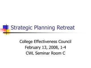 Strategic Planning Retreat