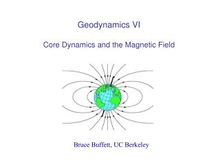 Geodynamics VI Core Dynamics and the Magnetic Field