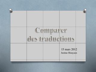 15 mars 2012 Justine Houyaux