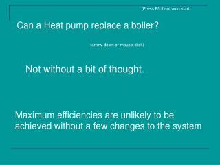 Can a Heat pump replace a boiler?