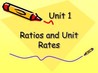 Unit 1 Ratios and Unit Rates