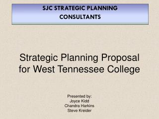 Strategic Planning Proposal for West Tennessee College