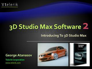 3D Studio Max Software  2