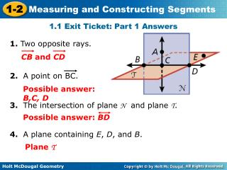 1.1 Exit Ticket: Part 1 Answers