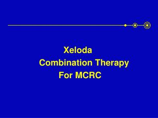 Xeloda                  Combination Therapy                         For MCRC