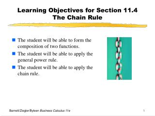 Learning Objectives for Section 11.4  The Chain Rule