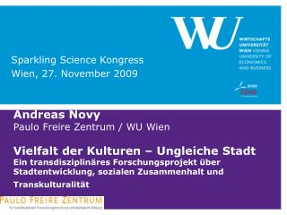 Sparkling Science Kongress  Wien, 27. November 2009