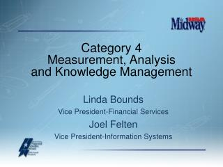 Category 4 Measurement, Analysis and Knowledge Management