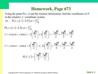 Homework, Page 673