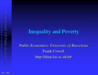 Inequality and Poverty