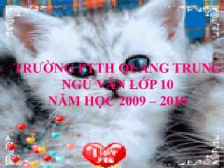 TRƯỜNG PTTH QUANG TRUNG NGỮ VĂN LỚP 10 NĂM HỌC 2009 – 2010