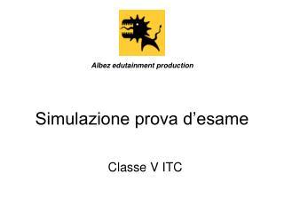 Simulazione prova d'esame