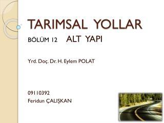 TARIMSAL  YOLLAR
