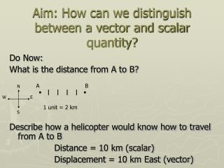 Aim: How can we distinguish between a vector and scalar quantity?
