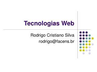 Tecnologias Web