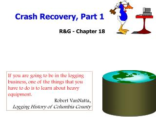 Crash Recovery, Part 1