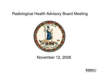 Radiological Health Advisory Board Meeting