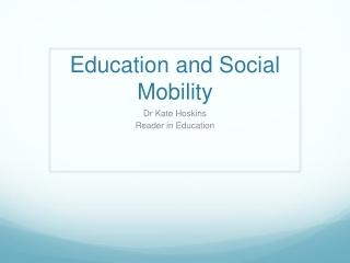 Education et soci t