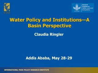 Water Policy and Institutions—A Basin Perspective