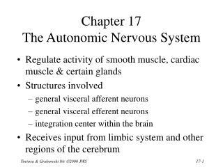 Chapter 17  The Autonomic Nervous System