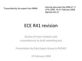 ECE R41 revision