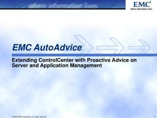 EMC AutoAdvice