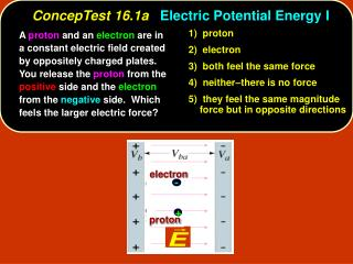 ConcepTest 16.1a Electric Potential Energy I