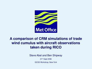 A comparison of CRM simulations of trade wind cumulus with aircraft observations taken during RICO
