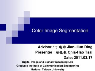Color Image Segmentation