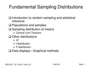 Fundamental Sampling Distributions