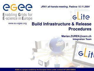 Build Infrastructure & Release Procedures Marian.ZUREK@cern.ch Integration Team
