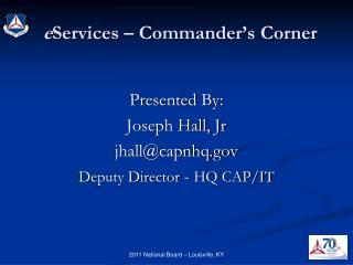e Services – Commander's Corner