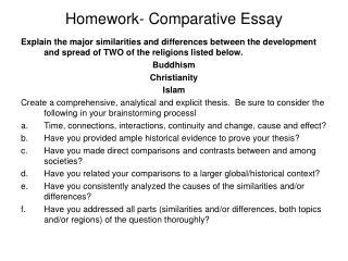 Homework- Comparative Essay