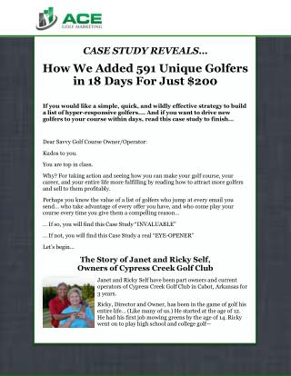golf course marketing