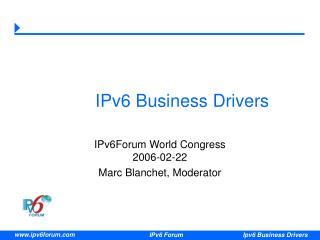 IPv6 Business Drivers