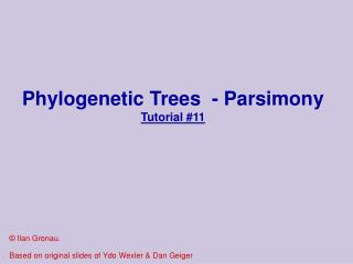 Phylogenetic Trees  - Parsimony Tutorial 11