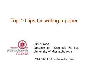 Top-10 tips for writing a paper