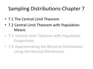 Sampling Distributions-Chapter 7