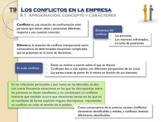 T9   Los conflictos en la empresa