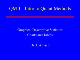 QM 1 - Intro to Quant Methods