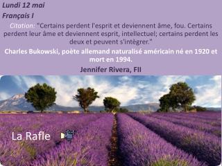 Lundi  12  mai Français  I