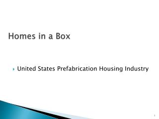 Homes in a Box