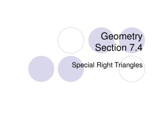Geometry Section 7.4
