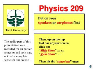 Physics 209