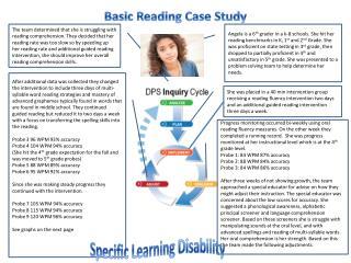 Basic Reading Case Study